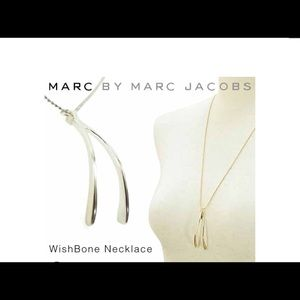 Marc Jacobs Wishbone silver necklace NWOT